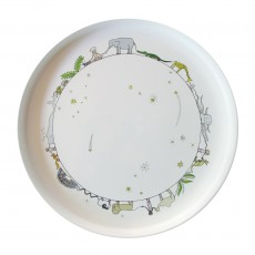 Assiette Circle of life and stars Blanc