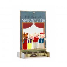 Marionnettes Les 3 Petits Cochons Multicolore