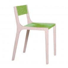 Chaise Sepp en bois et feutre vert