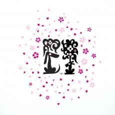Sticker Kuntzel & Deygas Cap & Pep  - Cherry Blossom