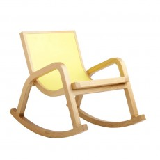 Fauteuil &agrave; bascule  - Jaune
