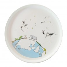 Assiette Fairies Fly Blanc