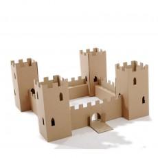 Château fort en carton - naturel Naturel