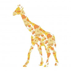 Sticker Girafe  - Jaune