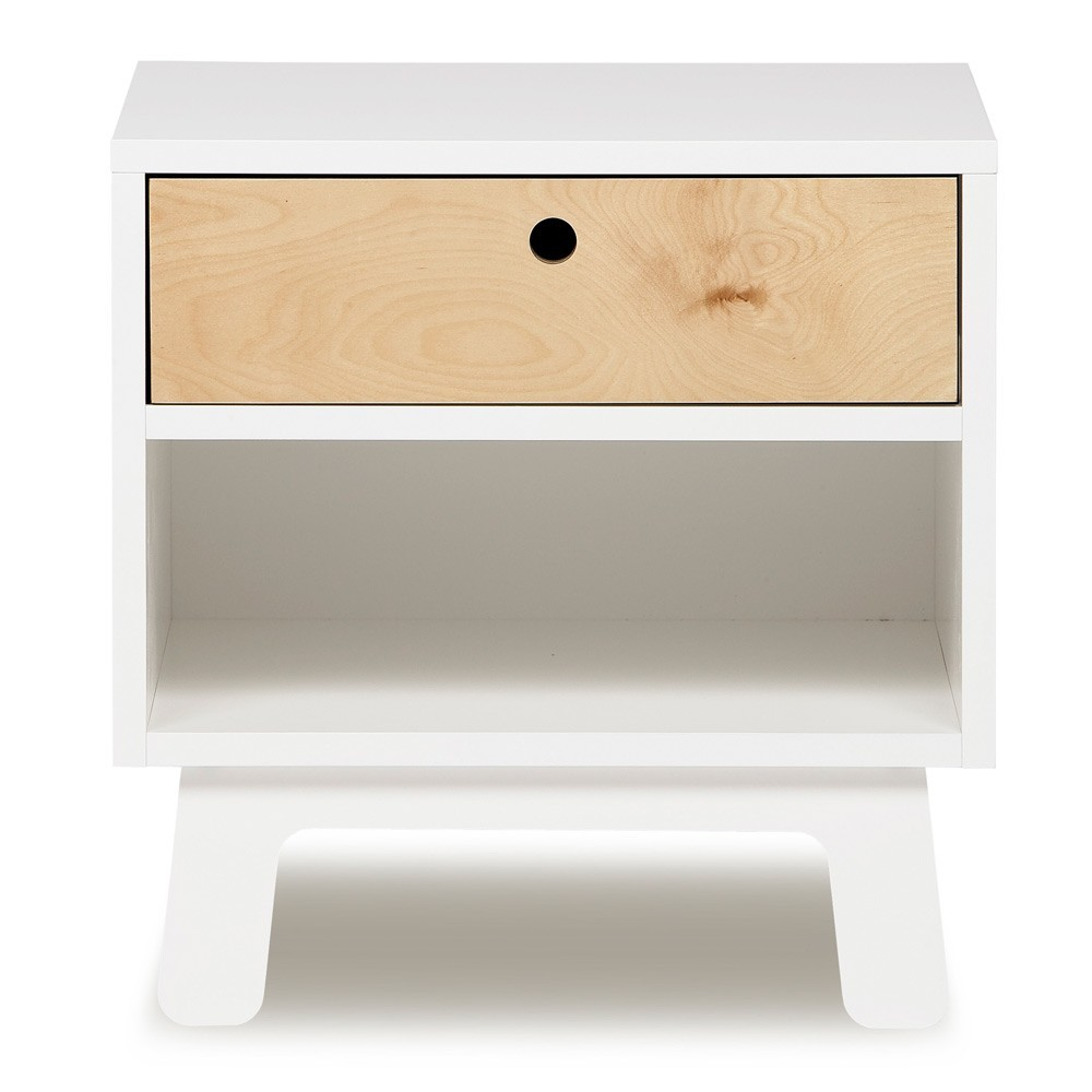 Table de nuit sparrow blanc oeuf nyc mobilier smallable - Table de nuit blanc ...