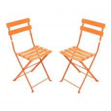 Lot de 2 chaises Tom Pouce  Orange
