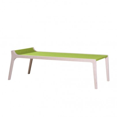Banc Table Erykah En Bois Et Feutre Vert Vert Sirch Mobilier Smallable