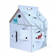 Casa Cabana Maison en carton avec motifs Multicolore