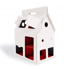 Maison poupée carton  Mobilehome Blanc