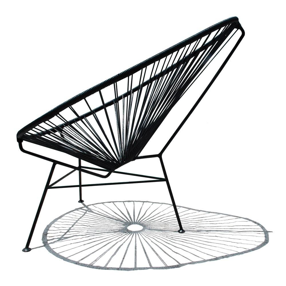 fauteuil acapulco mini noir sentou mobilier smallable. Black Bedroom Furniture Sets. Home Design Ideas