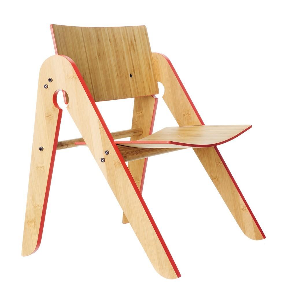 chaise lilly en bambou rouge we do wood mobilier enfant smallable. Black Bedroom Furniture Sets. Home Design Ideas