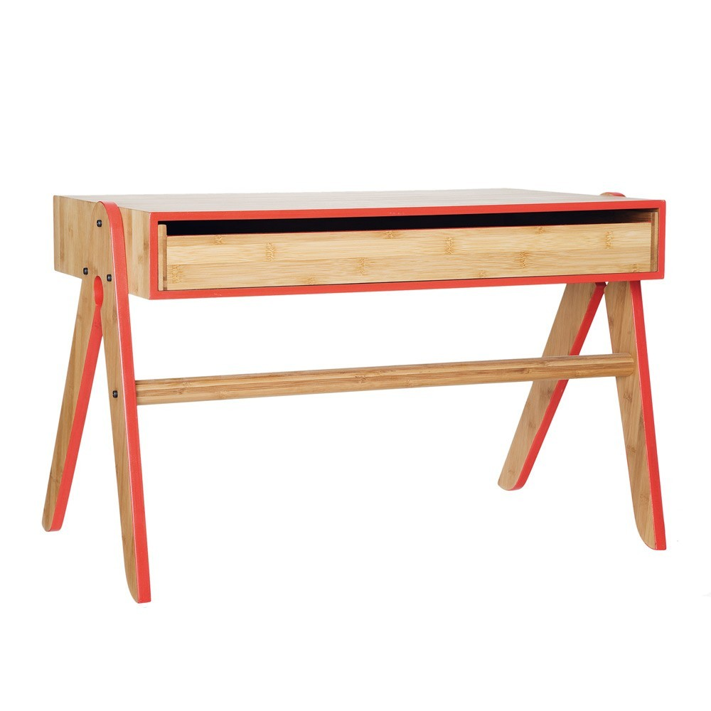 bureau geo en bambou noir we do wood mobilier enfant smallable. Black Bedroom Furniture Sets. Home Design Ideas
