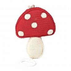 Boîte à musique champignon Rouge
