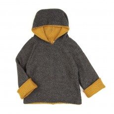 Sweat R&eacute;versible - Gris / Ocre