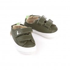 Baskets scratchs Freshy - Vert kaki
