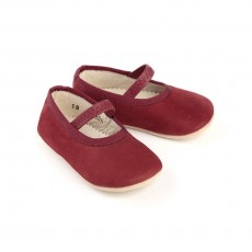 Ballerines B&eacute;b&eacute; - Rouge fonc&eacute;