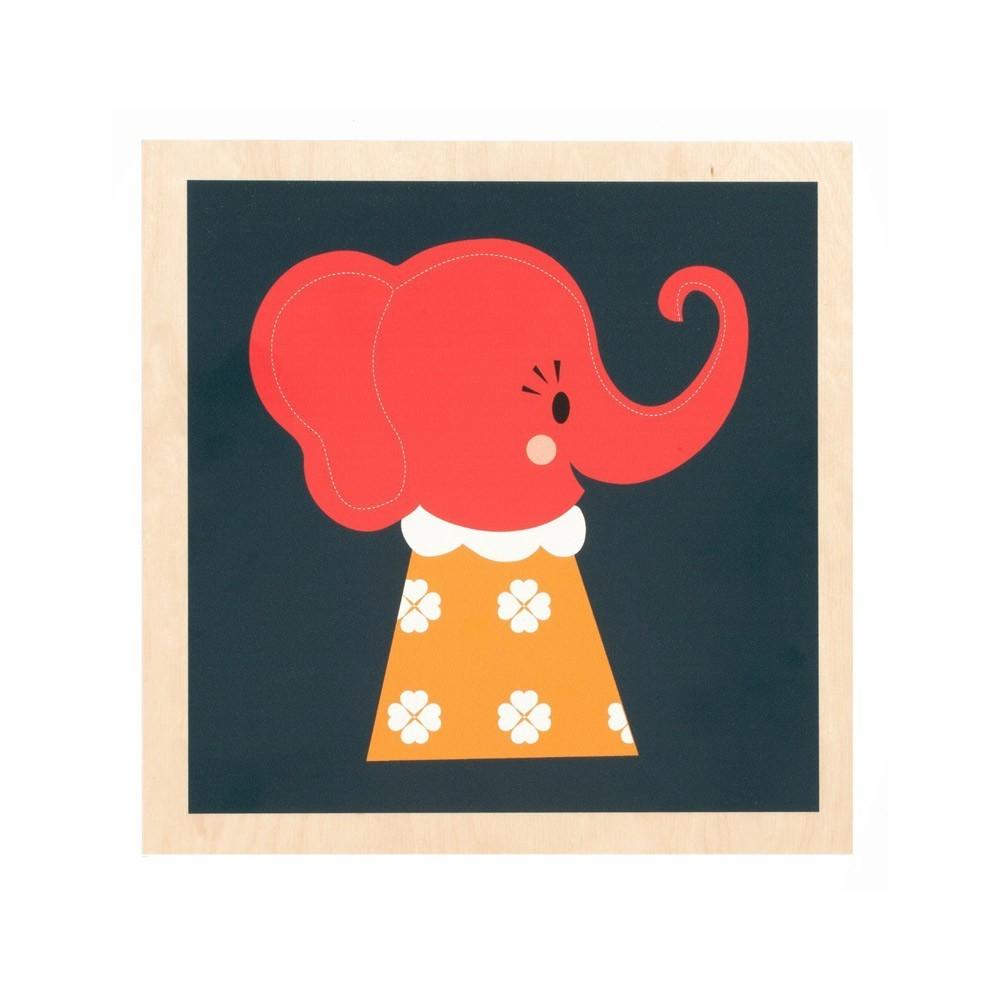 cadre elephant ferm living d coration enfant smallable. Black Bedroom Furniture Sets. Home Design Ideas