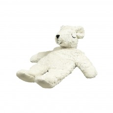 Peluche bouillote naturelle ours polaire Blanc