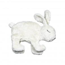 Peluche bouillote naturelle lapin Blanc