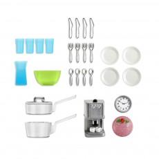 Accessoires maison de poupée : Kit accessoires cuisine