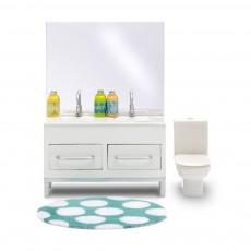 Accessoires maison de poupée : Ensemble salle de bain