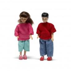 Accessoires maison de poupée : Kit fille + garcon