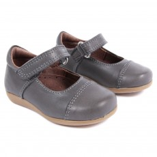 Ballerines B&eacute;b&eacute; - Gris fon&ccedil;&eacute;