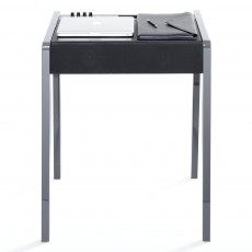 Bureau Laptop - LD 130 - Laque brillante - Anthracite