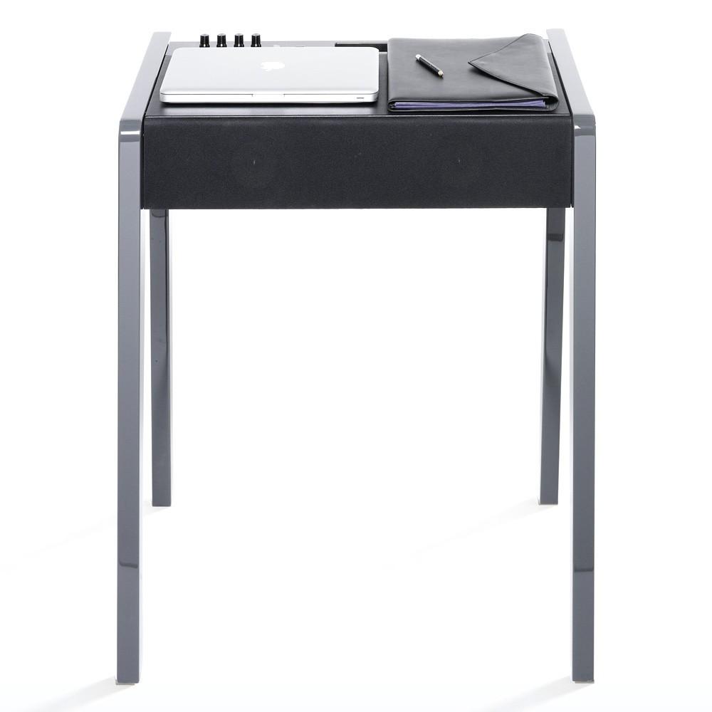 Bureau laptop ld 130 laque brillante anthracite la for Bureau concept la sarre