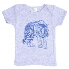 T-shirt Tigre B&eacute;b&eacute;   - Gris