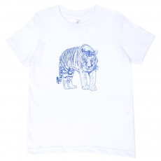 T-shirt Tigre   - Blanc