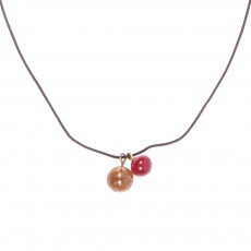 Collier   - Marron