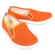 Chaussures en toile - Orange
