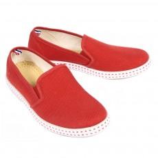 Chaussures en toile - Rouge
