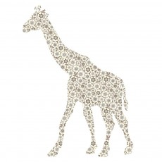 Sticker Girafe - Gris