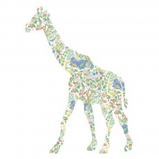 Sticker Girafe - Forêt