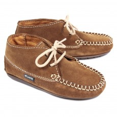 Chaussures suede - Camel