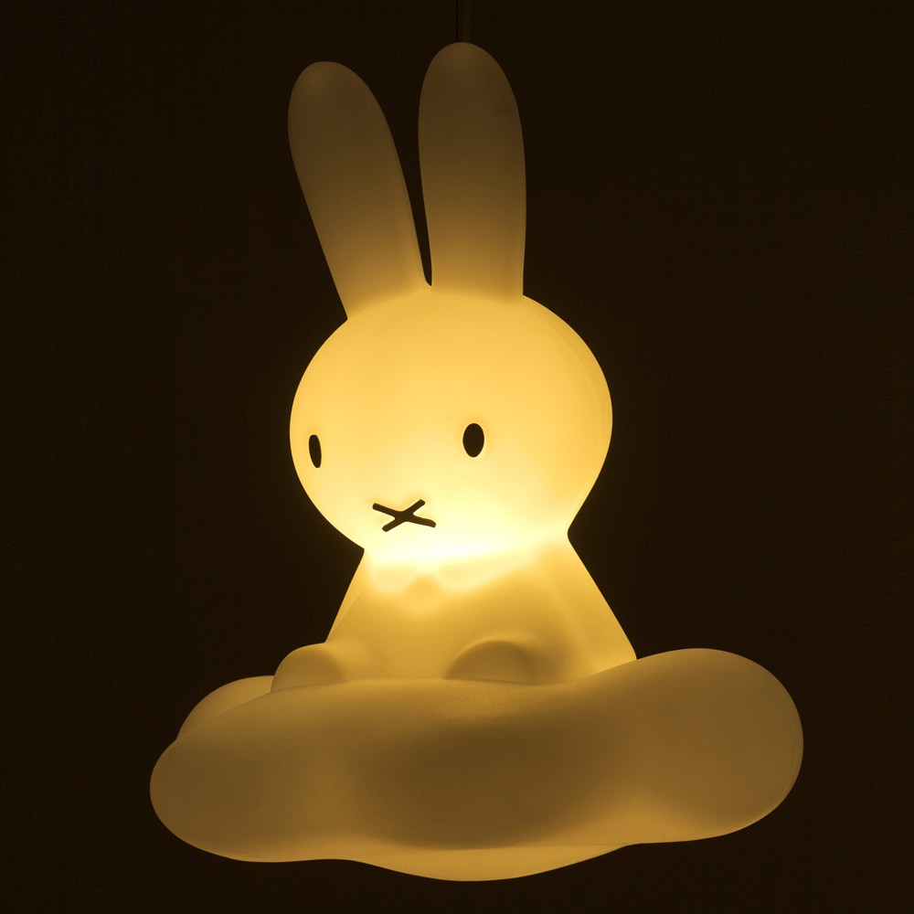 lampe plafonnier miffy sur son nuage blanc papamaria. Black Bedroom Furniture Sets. Home Design Ideas