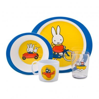 Vaisselle enfant Miffy - Set de 4 pièces pour 24€