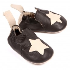 Chaussons Etoile B&eacute;b&eacute; - Gris anthracite
