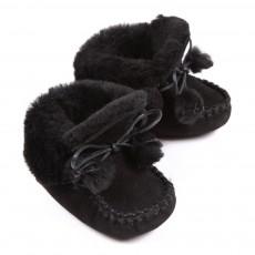 Chaussons fourrés Bébé - Noir