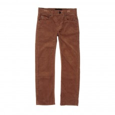 Pantalon straight velours Norton - Ocre