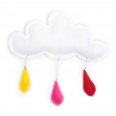 Mobile Gouttes de pluie rouge/rose/jaune