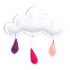 Mobile Gouttes de pluie pêche/rose/lavande