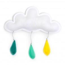 Mobile Gouttes de pluie jaune/menthe/turquoise