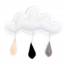 Mobile Gouttes de pluie gris/noir/crème