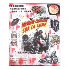 Tableau Astronaute - Rouge