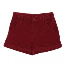Short velours - Rouge framboise