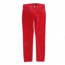 Pantalon velours - Rouge