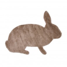 Tapis lapin -  Couleur taupe